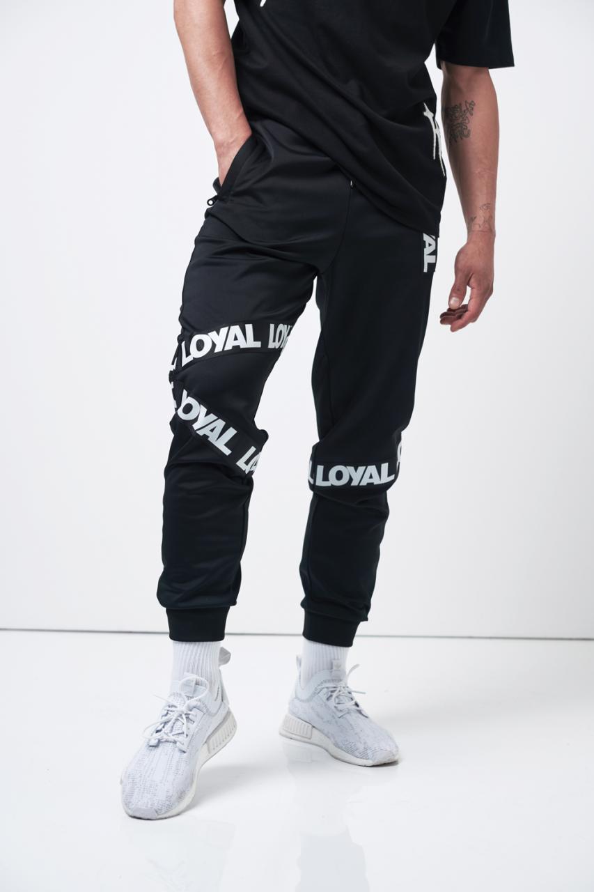 Loyal Tape Track Pants Black