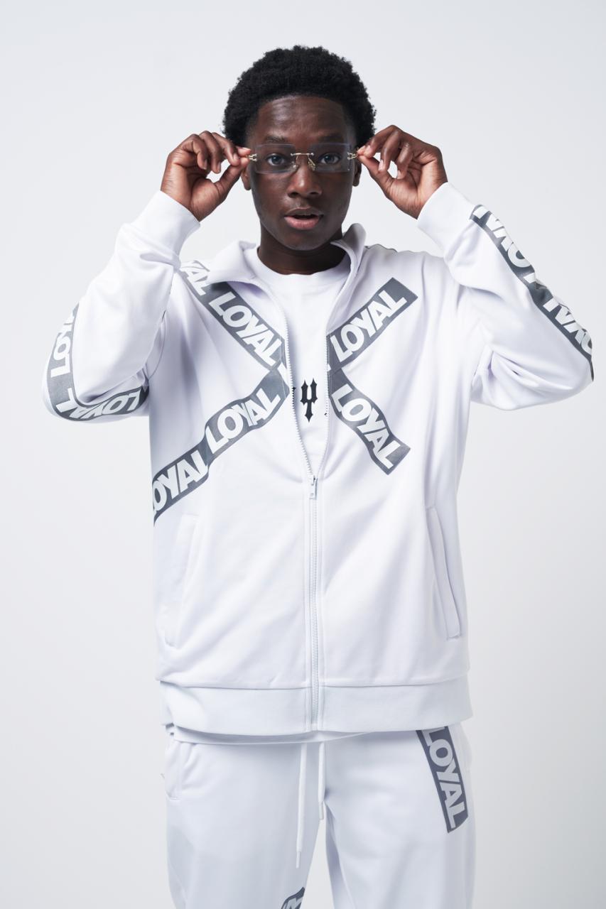 Loyal Tape Track Jacket White