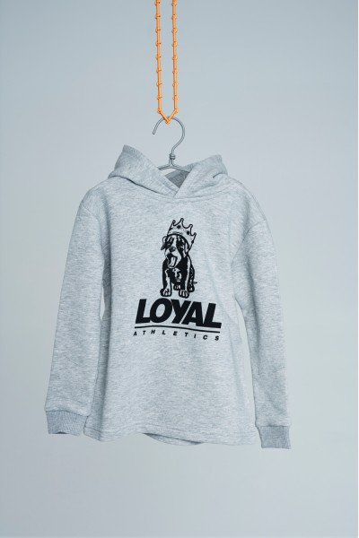 Loyal Puppy Hoodie Grey