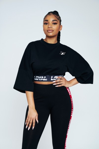 Loyal Athletics Bold Cropped Tee Black
