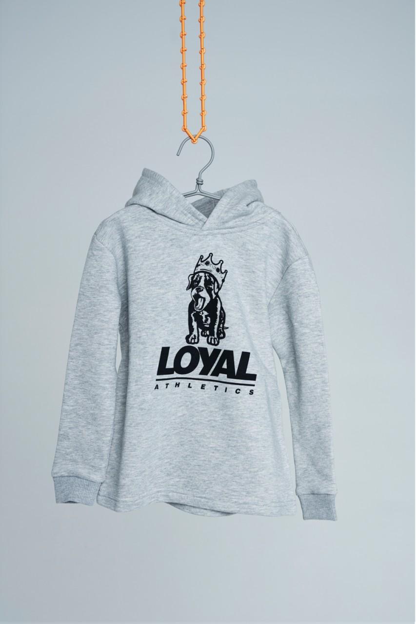 Loyal Puppy Hoodie Grey