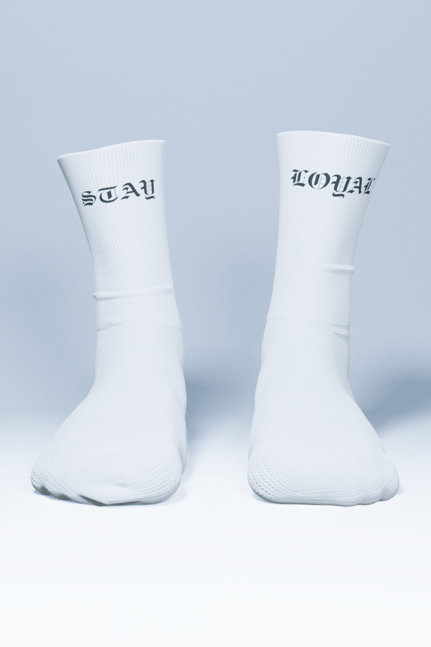 Stay Loyal Socks White
