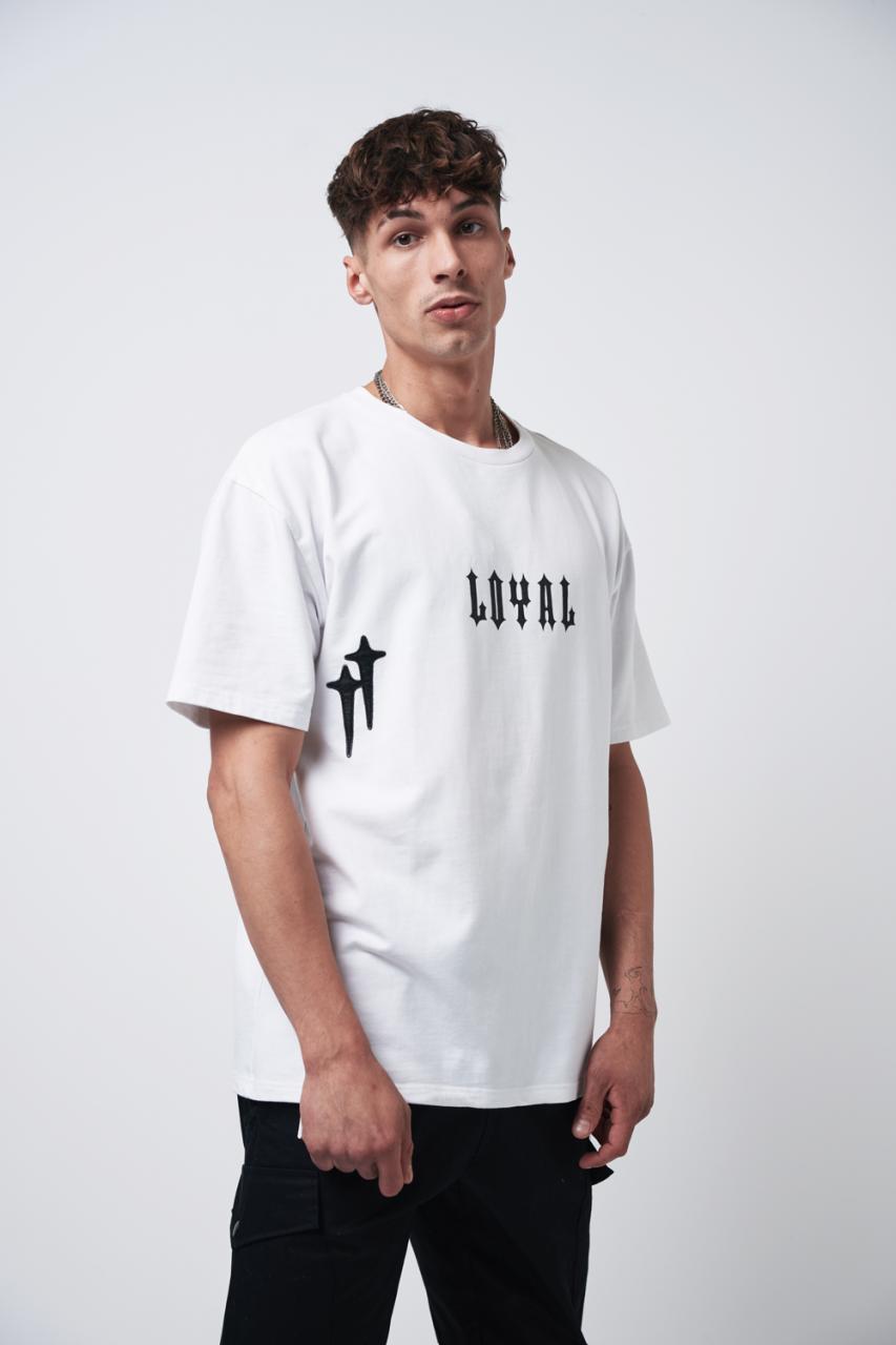 Loyal Cross Tee White