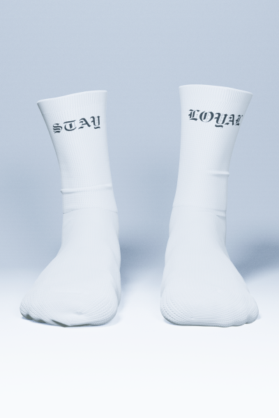 Stay Loyal Socks White