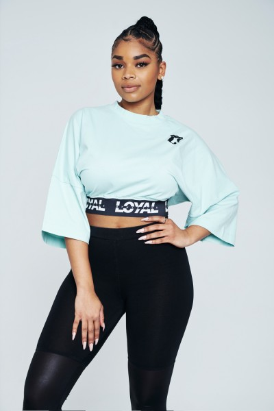 Loyal Athletics Bold Cropped Tee Mint